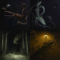 October Creature Compendium 4 - Lights off by Kiabugboy