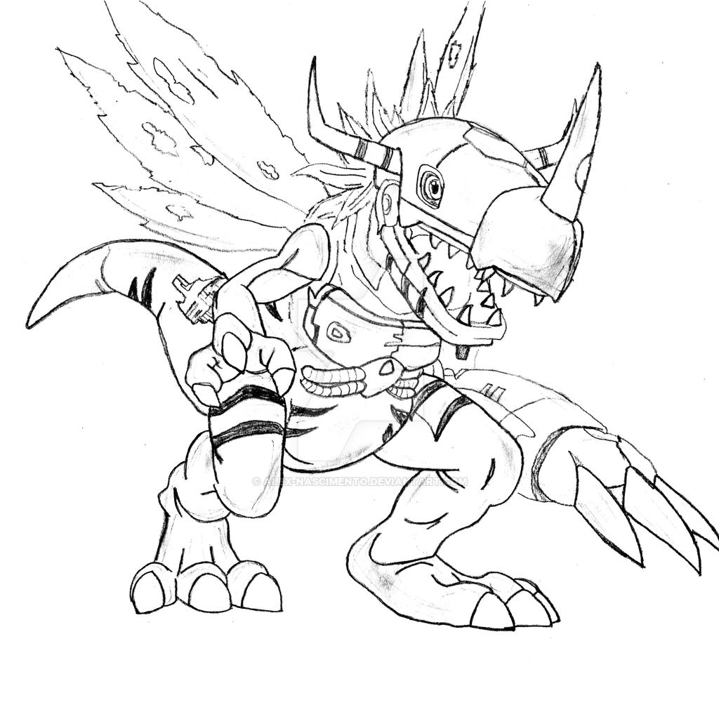 Digimon metalgreymon coloring pages printable coloring pages for Alex grey coloring pages