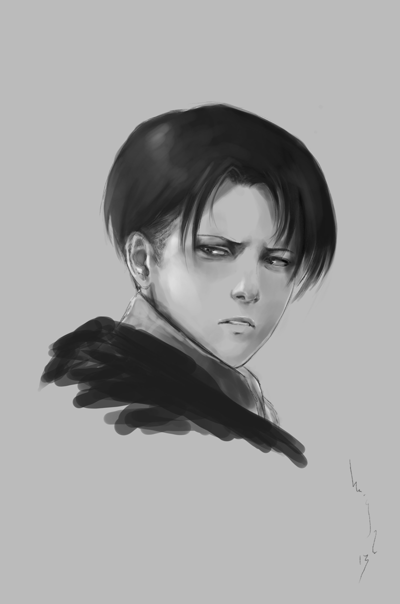 Attack on Titan: Levi  sketch by merkymerx