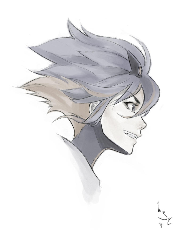 Ryuko sketch by merkymerx