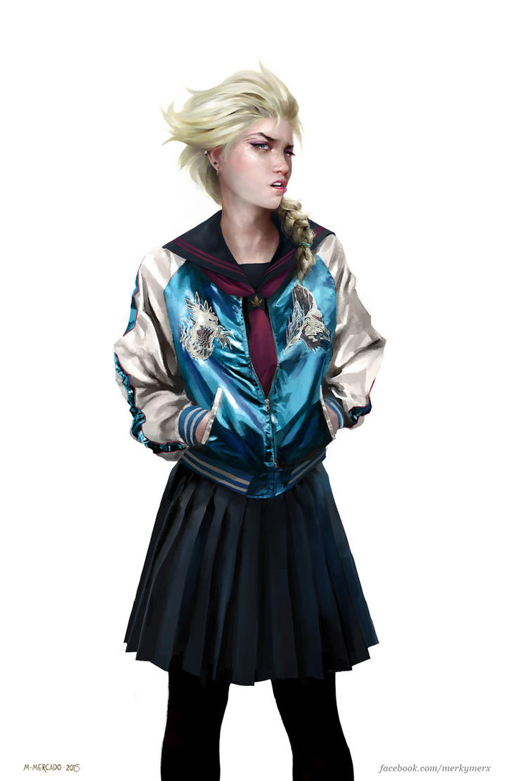 Elsa Sukeban by merkymerx