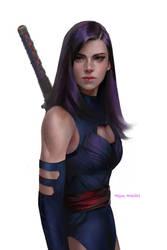 Psylocke by merkymerx