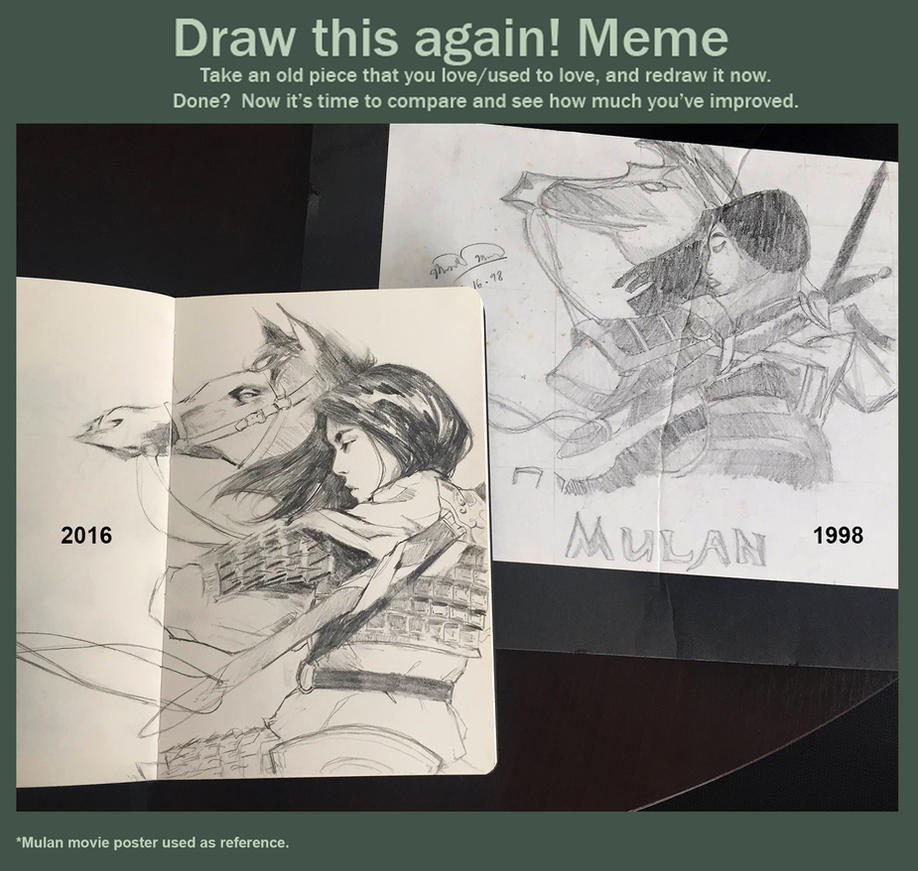Draw this again: Mulan by merkymerx