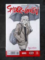 Gwen Stacy blank cover sketch by merkymerx
