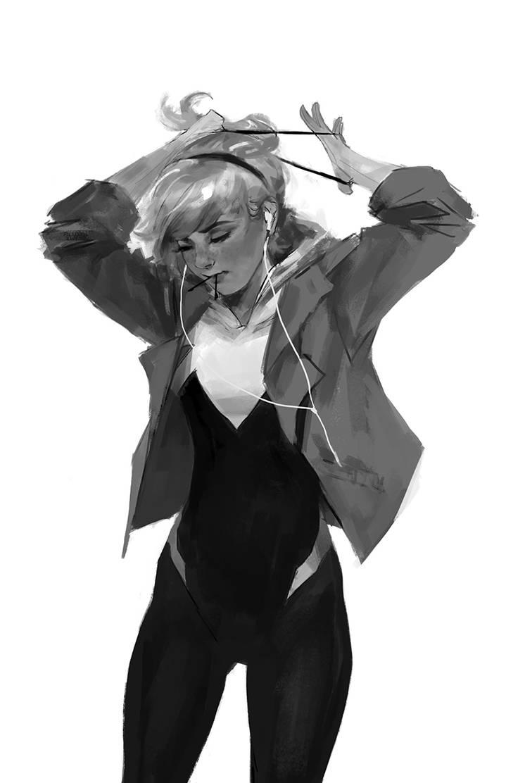 Spider-Gwen: ponytail by merkymerx