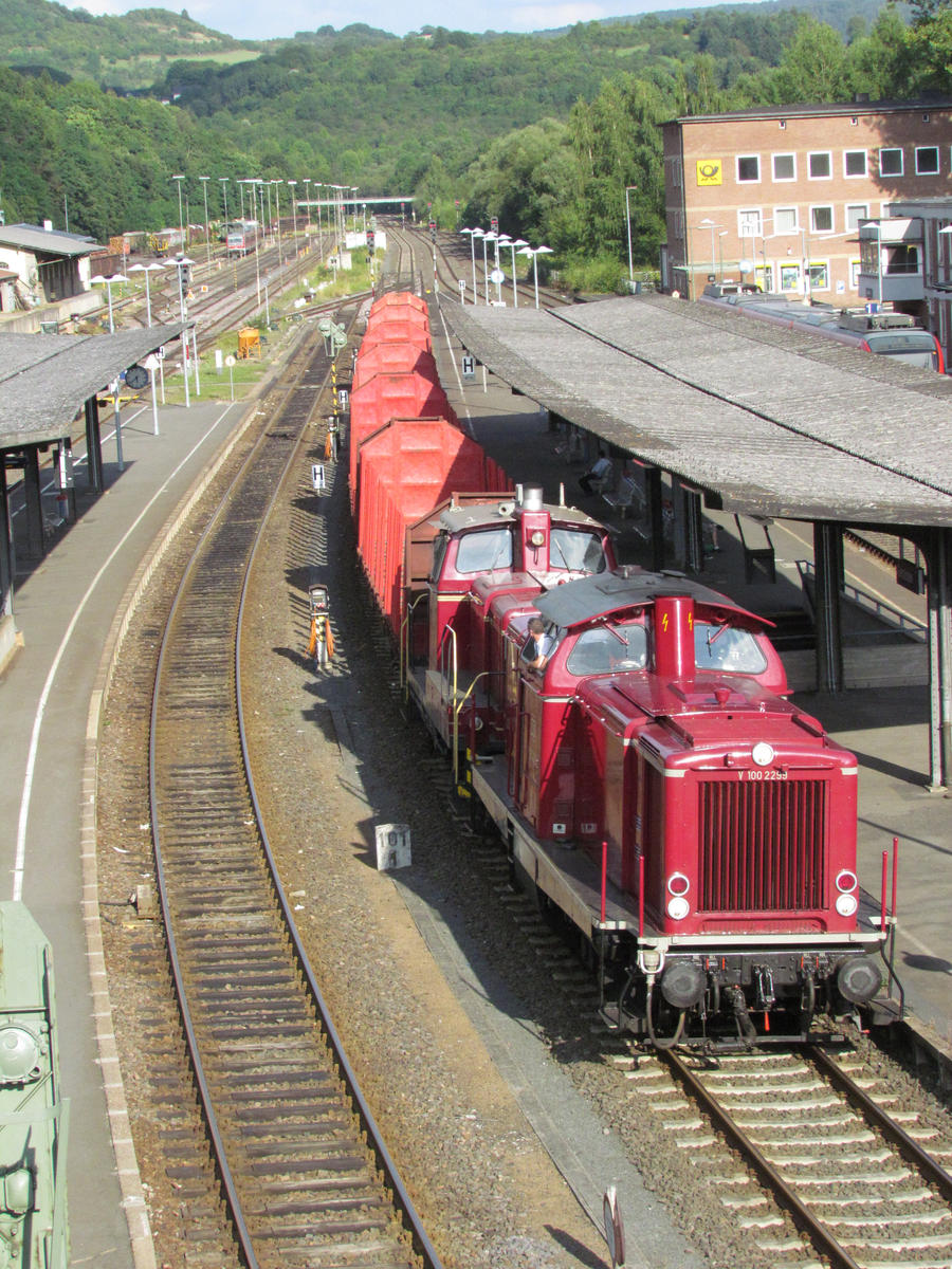 V100 and V60 with empty wood train 1 by damenster