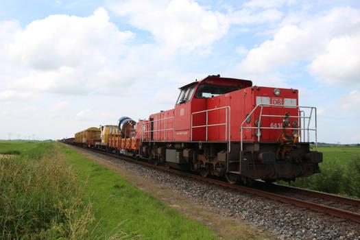 DBC 6416 with sleeper train