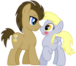 Vector 017- Dr Hooves and Derpy Vector