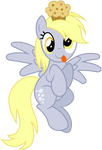 Vector 018 - Derpy with Muffin Vector