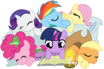 Vector 019 - Sleeping Filly Mane Six Vector