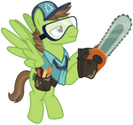 Vector 023: Horticultural Pony with Chainsaw