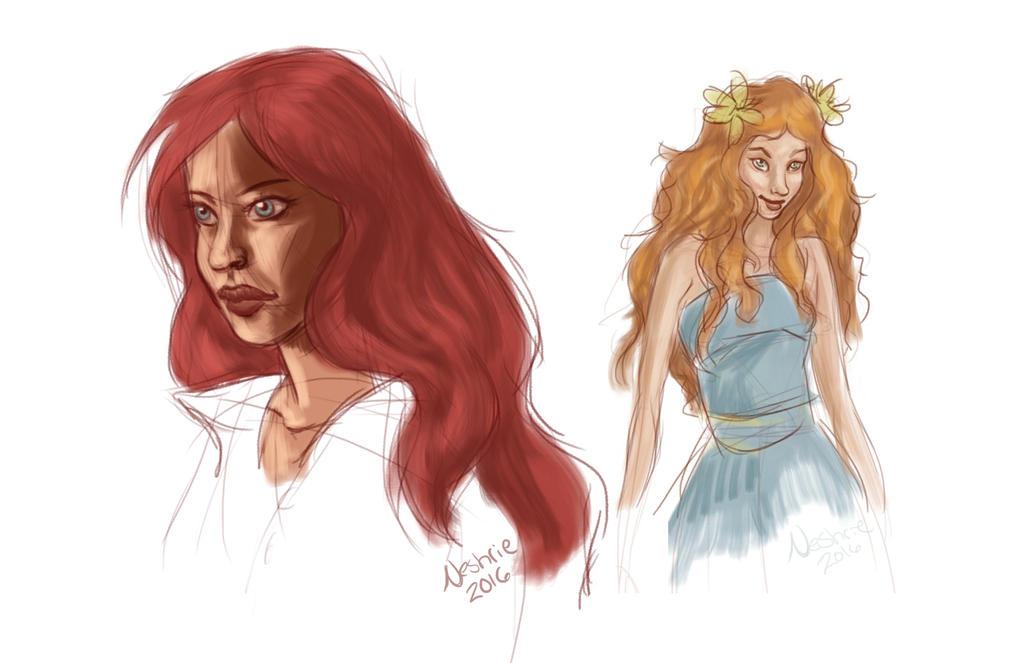 Speedpaints-Lovely Ladies by Neshrie