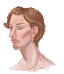 Male Portrait Speedpaint by Neshrie