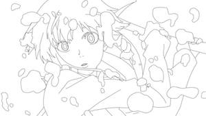 Gasai Yuno  - Mirai Nikki Line Art