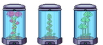 Sci-Fi Plants in Glass Displays by Xenophero-M