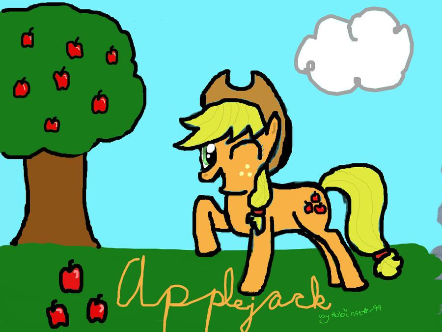Applejack (Colored) by Robinstar99