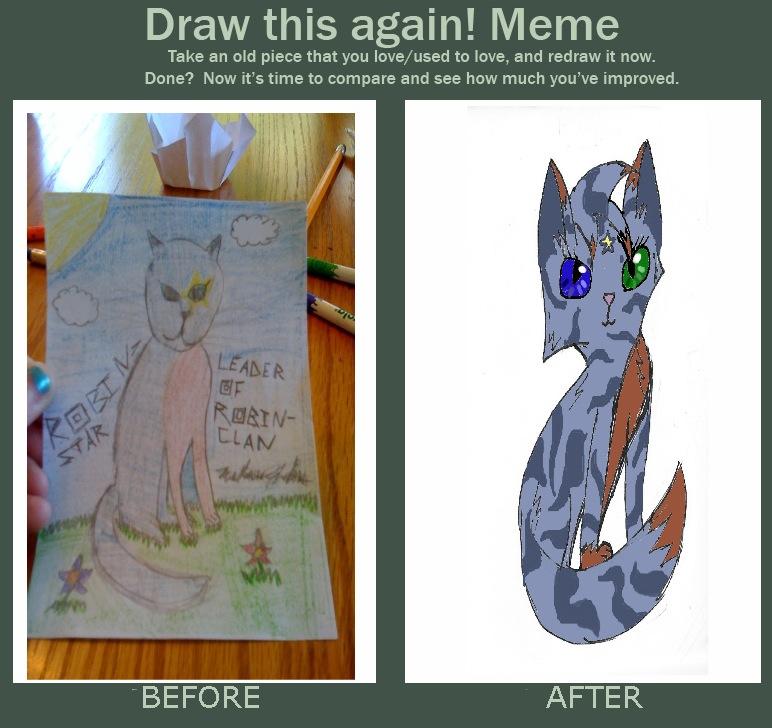 Draw this again meme: Robinstar by Robinstar99