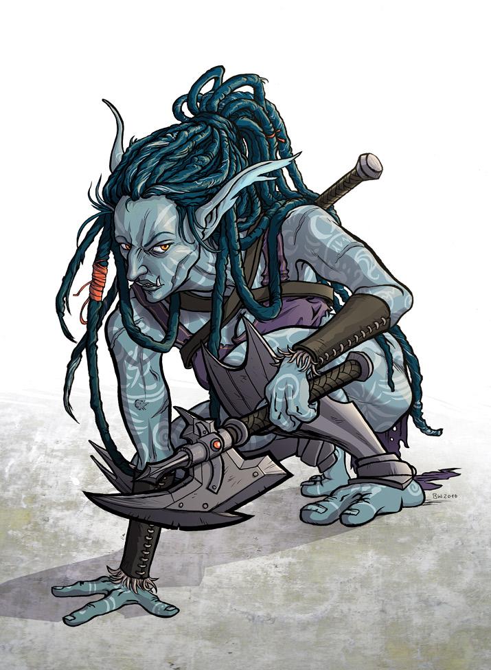Female Troll by Antihelios