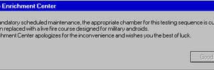 Portal Error Message 4
