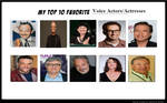 My Top 10 Favorite Voice Actors and Actresses