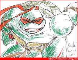 TMNT-Raphael-Enjoy Fighting by leonardolz