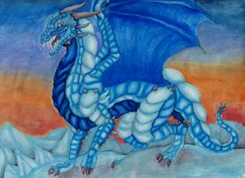 Ice Dragon Gift by GhostlyMetalhead