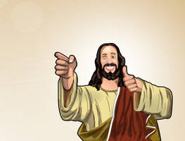 Buddy Christ by phreezer