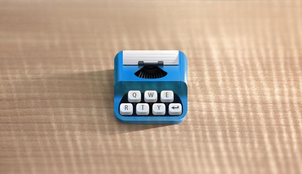 New typewriter icon