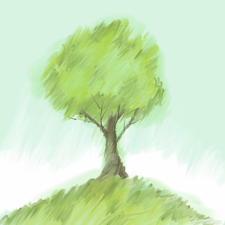 15 minute sketch tree by polysterentmans
