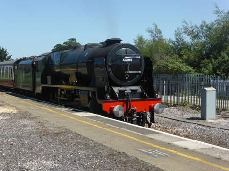 46100 Royal Scot passing Newton Abbot