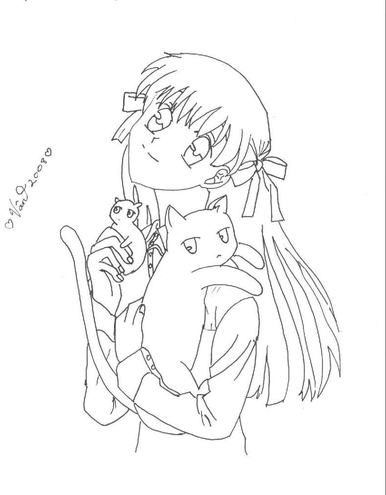 fruits basket coloring pages manga - photo#3
