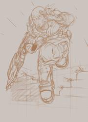 Marcus Fenix - Sketch by Huroman