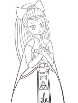 Princess Zelda (lineart)
