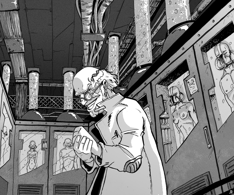 Cyberpunk mad scientist by Svart-bd