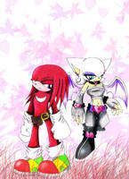 .:Knuckles and rouge:. by Cheezyem