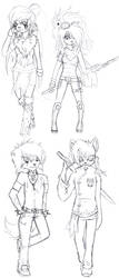 Main character sketch dump by Cheezyem