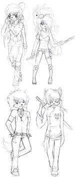 Main character sketch dump