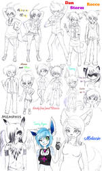 Sketch Dump Late 2014 by Cheezyem