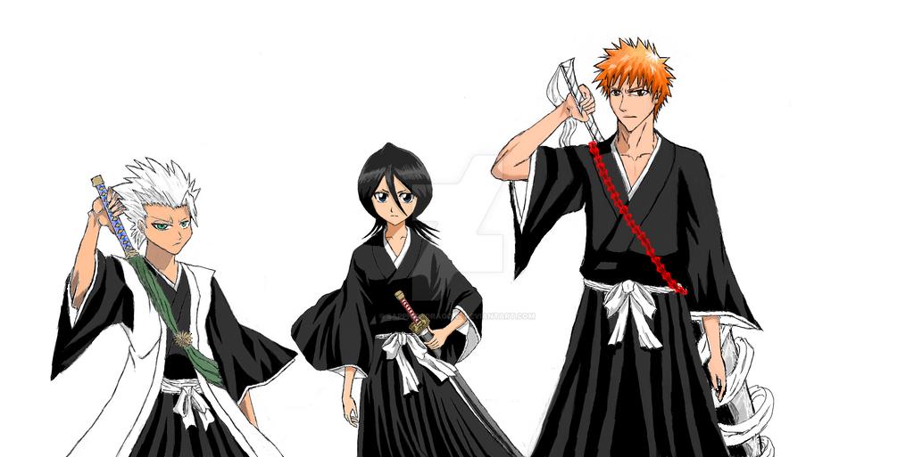 Rukia, Hitsugaya, and Ichigo by SapphireDragon7 on DeviantArt