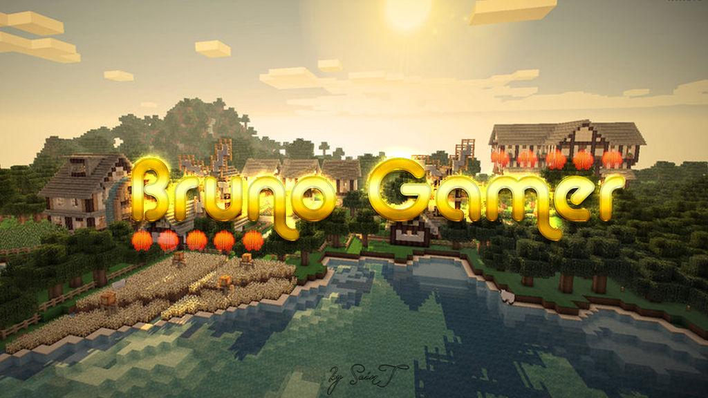 WallPaper - Minecraft Theme - Bruno Gamer by BySaint on