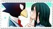 Tokoyami Fumikage x Asui Tsuyu stamp by Soni8888