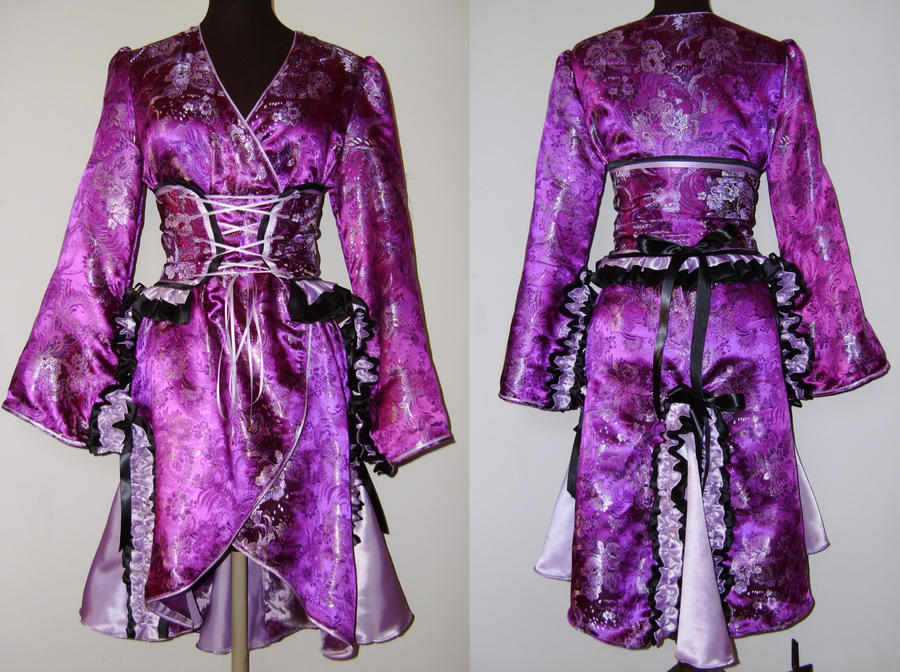 Purple Black and Lavender Gothic Lolita Kimono by Gypsy-Red on DeviantArt