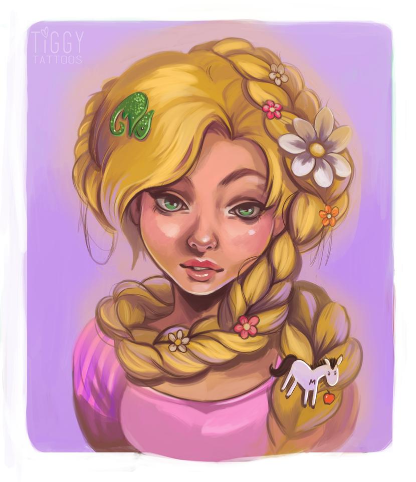 Rapunzel by tiggytattoos