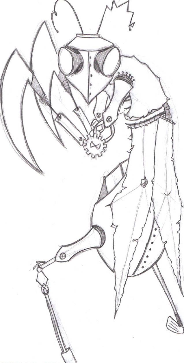 Praying Mantis Sketch By Aimichiko On Deviantart