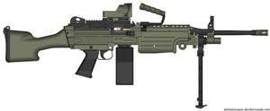 FN Minimi Mk47 w/ Reflex Scanner