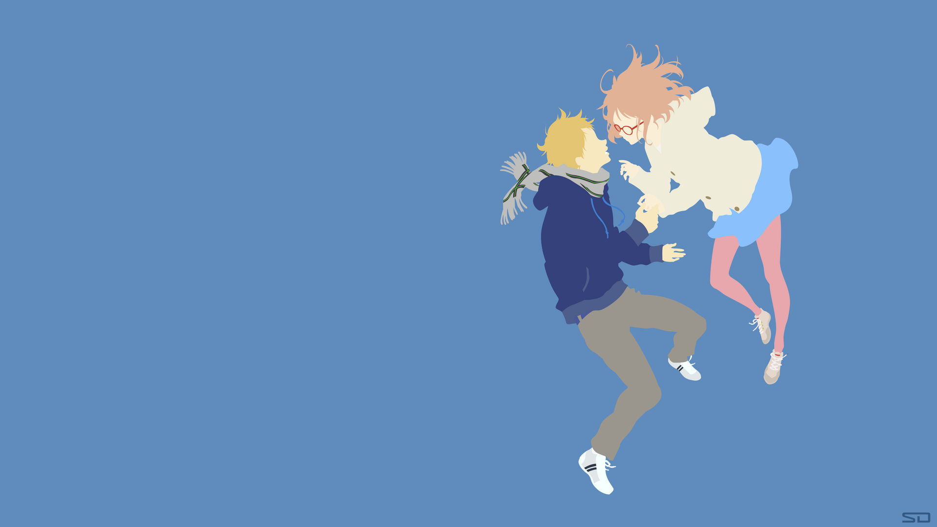 Beyond The Boundary On Minimalistic Animoo Deviantart