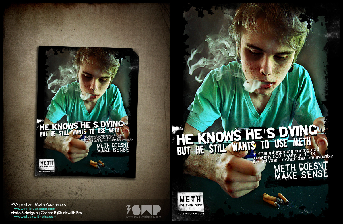 PSA Poster - Meth Awareness by stuckwithpins