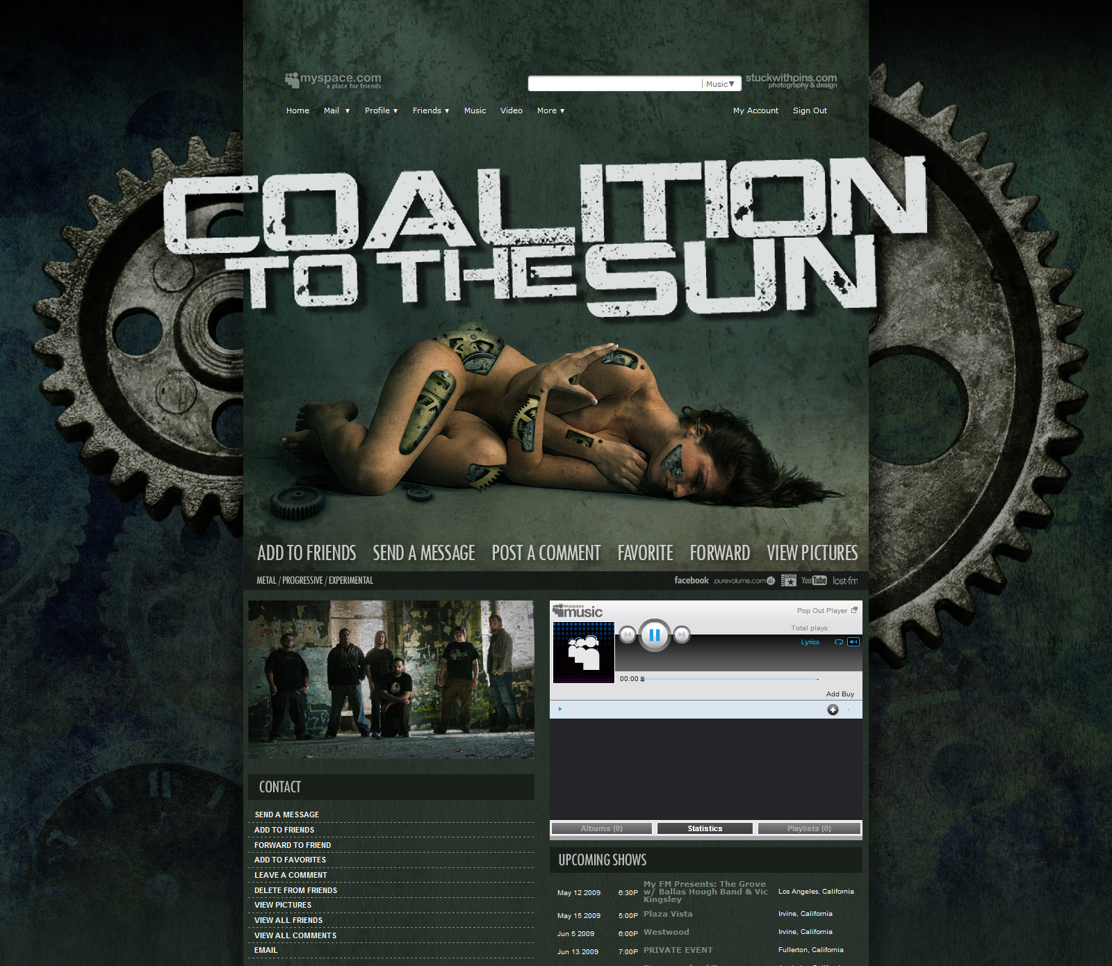 Myspace: Coalition to the Sun by stuckwithpins