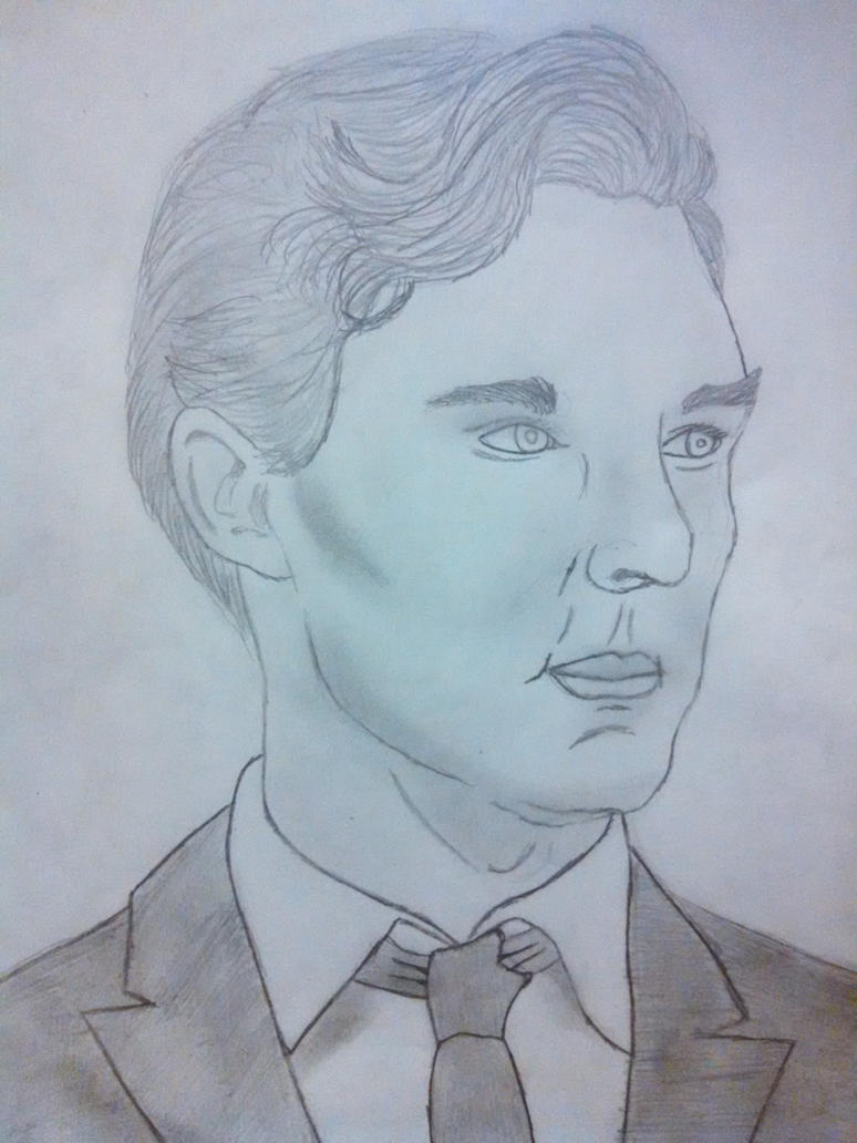 Benedict Cumberbatch Sketch 2 by legendheroes