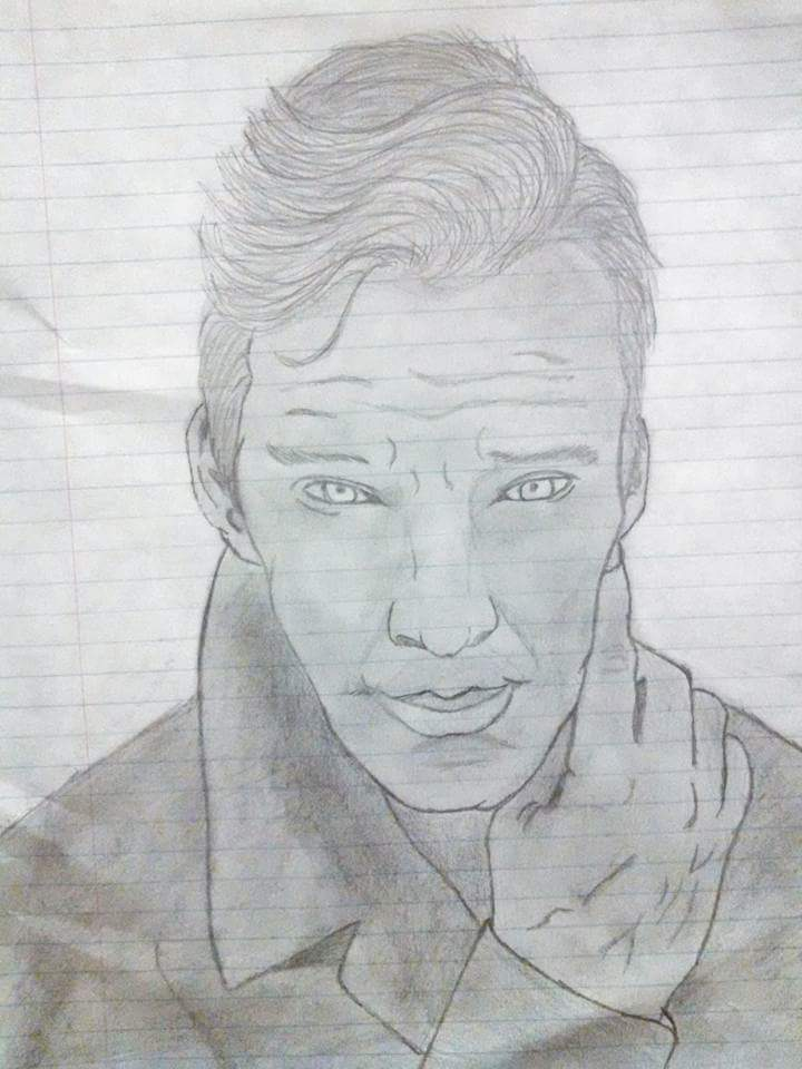 Benedict Cumberbatch Sketch 3 by legendheroes